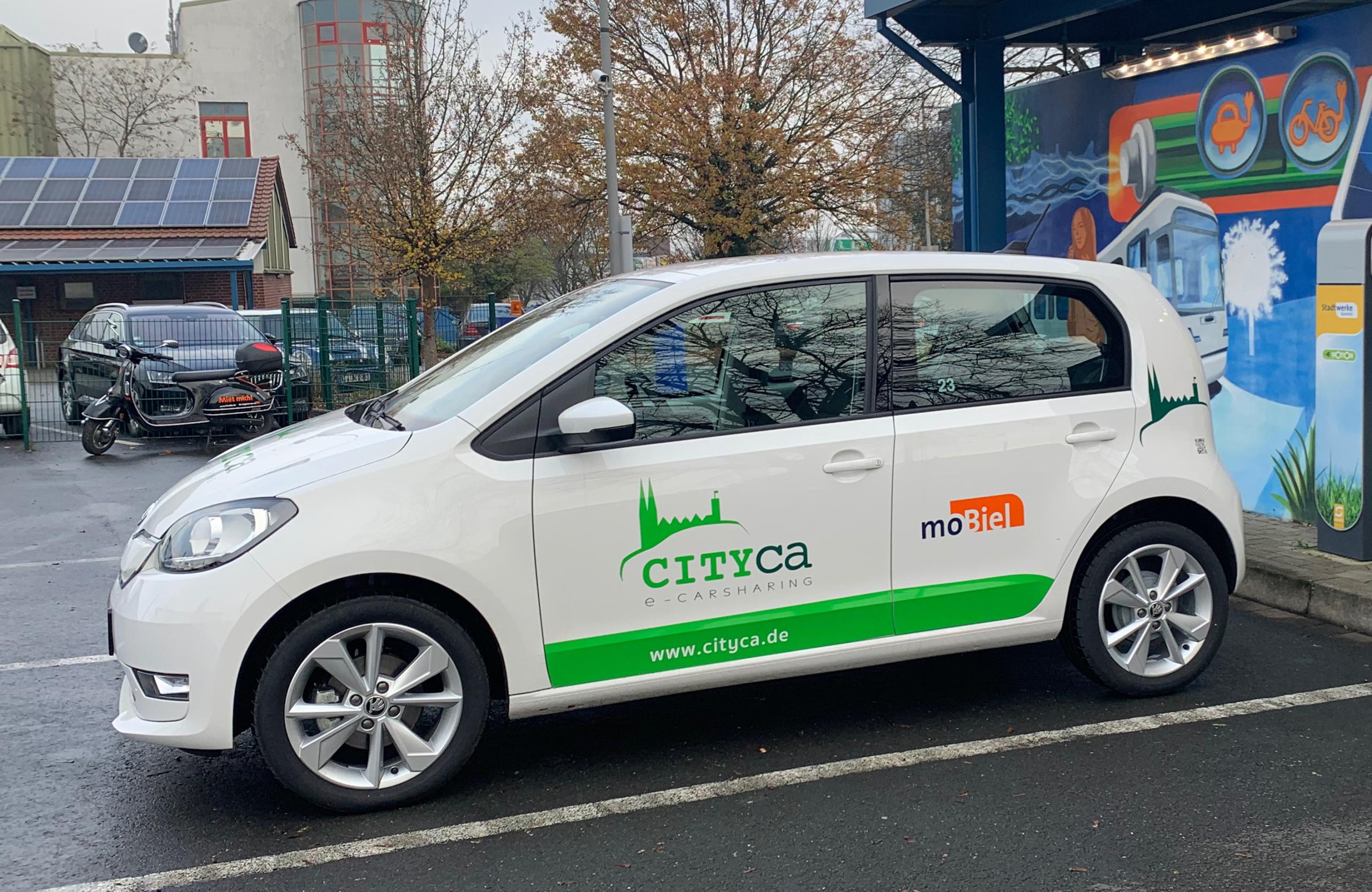 Carsharing Fahrzeugflotte von CITYca